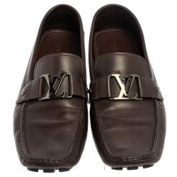 Louis Vuitton Brown Leather Monte Carlo Loafers  Size 46