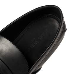 Louis Vuitton Black Leather Slip On Loafers Size 43.5