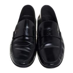 Louis Vuitton Black Leather Loafers Size 42.5
