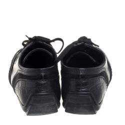 Louis Vuitton Black Crocodile, Calf Hair and Leather Loafer Size 41