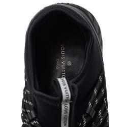 Louis Vuitton Black Fabric And Mesh Fastlane Sneakers Size 42