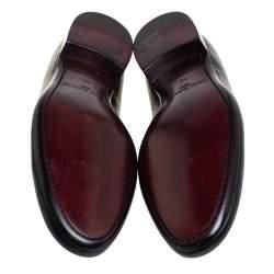 Louis Vuitton Black Leather Santiago Loafers Size 41.5