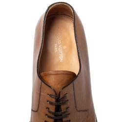 Louis Vuitton Brown Leather Oxfords Size 42