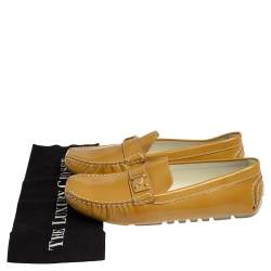 Louis Vuitton Yellow Patent Leather Lombok Driving Loafers Size 40.5