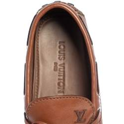 Louis Vuitton Brown Leather Arizona Bow Loafers Size 42