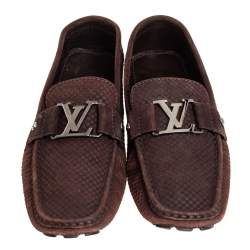 Louis Vuitton Brown Suede Monte Carlo Loafer Size 42