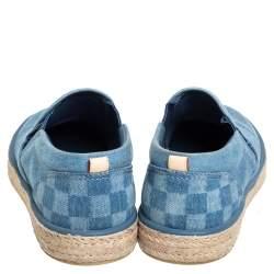 Louis Vuitton Blue Denim Slip On Espadrille Sneakers Size 44