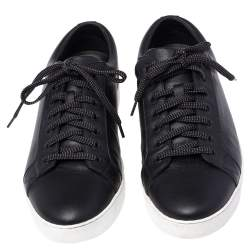 Louis Vuitton Black Leather Concorde Low Top Sneakers Size 41.5