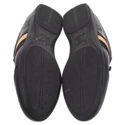 Louis Vuitton Black Leather Low Top Sneakers Size 42