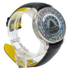 Louis Vuitton Black Titanium Escale Worldtime Men's Wristwatch 41MM