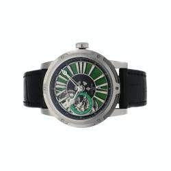 Louis Moinet Green Stainless Steel Metropolis Limited Edition LM-45.10.31 Men's Wristwatch 43 MM