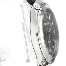 Louis Vuitton Gray Stainless Steel Fifty Five GMT Automatic Q6D30 Men's Wristwatch 41 MM
