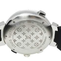 Louis Vuitton Blue Stainless Steel Tambour Regatta Q102D Men's Wristwatch 44 mm