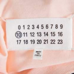 Maison Martin Margiela Baby Pink M Logo Print Cotton Oversized Distressed T-Shirt M