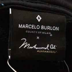 Marcelo Burlon Black Cotton Muhammad Ali Hoodie L