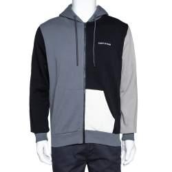 Marcelo Burlon Colour Block Cotton Zip Front Hoodie S