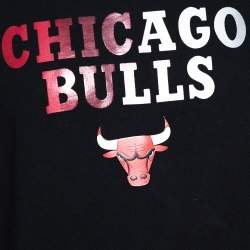 Marcelo Burlon X NBA Black Chicago Bulls Print Cotton Sweatshirt M