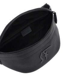 Miu Miu Black Leather Monogram Firenze Beltpack