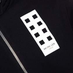 Moncler X Palm Angels Black Knit Make It Rain Zip Up Hoodie M
