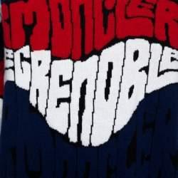 Moncler Grenoble Blue Logo Wool Cashmere Knit Jumper L