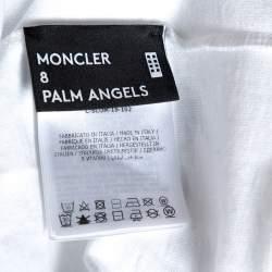 Moncler X Palm Angels White Graphic Print Cotton T-Shirt M