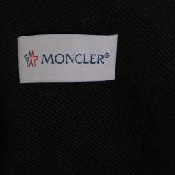 Moncler Black Knit Vertical Logo Printed Track Pants M