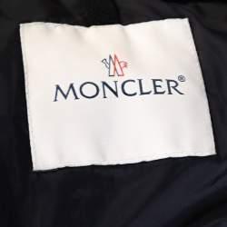 Moncler Navy Blue Down Quilted Wool Trim Blais Jacket 4XL