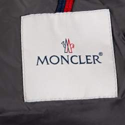 Moncler Grey Wool Puffer Jacket XXL