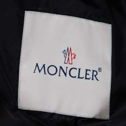 Moncler Navy Blue Down Quilted Picard Moto Jacket XXXL