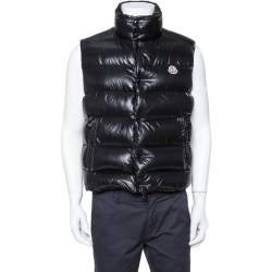 Moncler Black Synthetic Sleeveless Puffer Jacket L