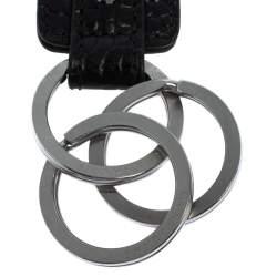 Montblanc Black Croc Embossed Leather Meisterstuck Key Fob