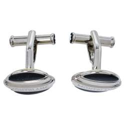 Montblanc Stainless Steel Lacquer Elegance Reversible Cufflinks
