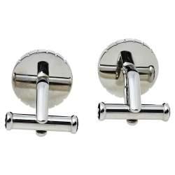 Montblanc Sartorial Steel Snowcap Emblem Round Cufflinks