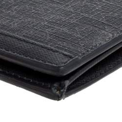 Montblanc Black Coated Canvas and Leather Signature Continental Wallet
