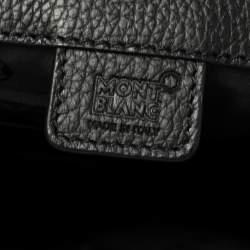 Montblanc Black Leather Meisterstuck North South Messenger Bag