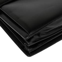 Montblanc Black Leather Meisterstuck Triple Gusset Briefcase