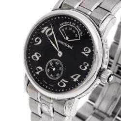 Montblanc Black Stainless Steel Meisterstück  7017 Men's Wristwatch 36MM