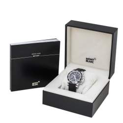Montblanc Black Stainless Steel Rubber Sport Chronograph 7034 Men's Wristwatch 41.50 mm