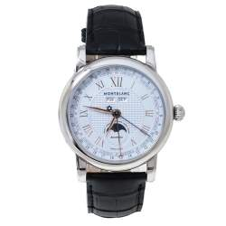 Montblanc Silver Stainless Steel Star Quantiéme Complet 7241 Men's Wristwatch 42 mm