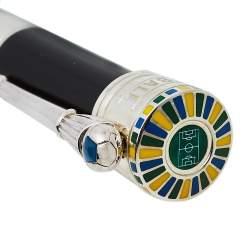 Montegrappa Black PELÉ P10 Limited Edition Black Resin Sterling Silver Fineliner Pen