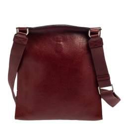 Mulberry Burgundy Leather Antony Messenger Bag