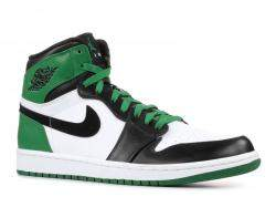 Air Jordan 1 x Nike Tricolor Leather Retro Celtics High Top Sneakers Size 43.5