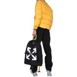 جاكت أوف وايت منفوخ ذو وجهين أسود مقاس L