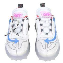 حذاء رياضي أوف وايت أودسي شانكي حافة سويدي/ جلد متعدد الألوان/ أبيض IT 41