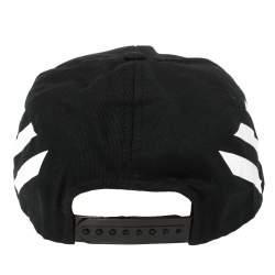 Off-White Black Fabric Diag Baseball Cap