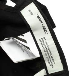 Off-White Black Fabric Baseball Cap