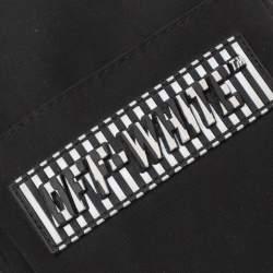 Off-White Black Nylon Patch Hip Bag