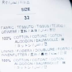 Off White Blue Denim Logo Printed Drawstring Detail Cargo Jeans M