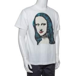 OFF-White White Cotton Monalisa Printed Crewneck T-Shirt XXS