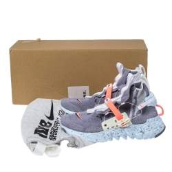 Nike Vast Grey Cotton Knit Space Hippie 03 High Top Sneakers Size 42.5